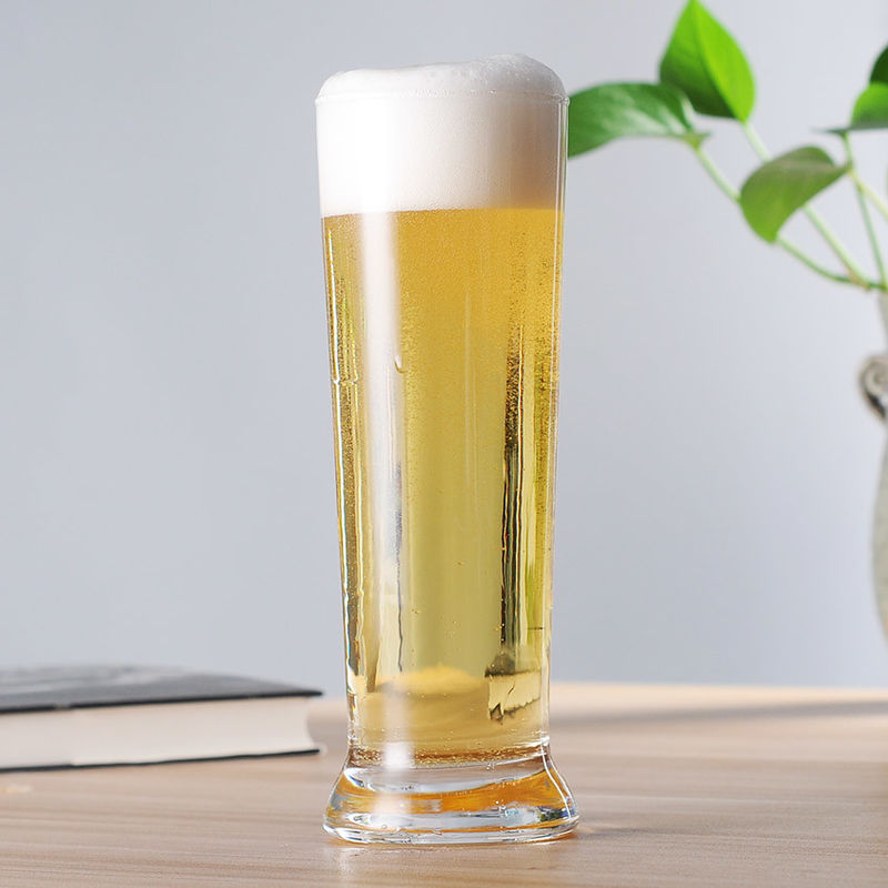 16 Oz Tall Slim Classic Pilsner Glass , Dishwasher Safe Pilsner Beer Mug